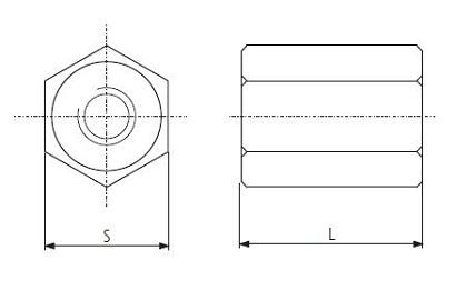 reseau-ventilation-ecrou-jonction-femelle-acier-schema